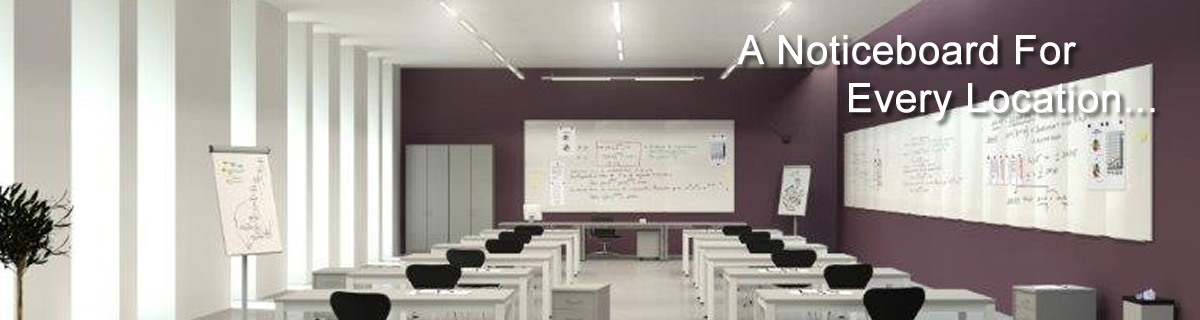 Wall mounted and floor standing whiteboards