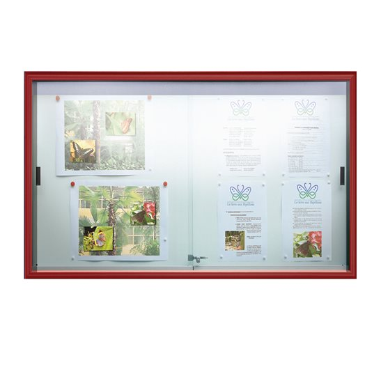 Classic Sliding Door Magnetic Notice Board Magnetic