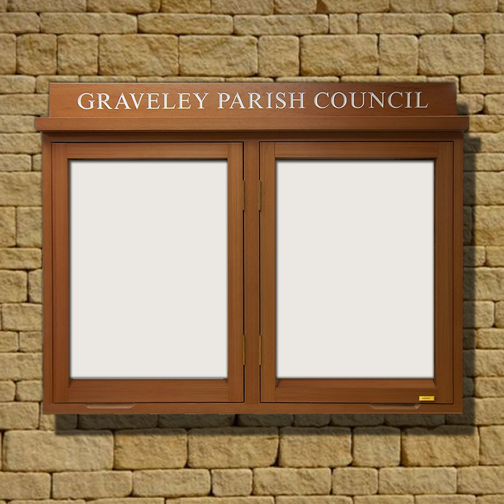 Envy Outdoor Recycled Lockable Notice Board With Header