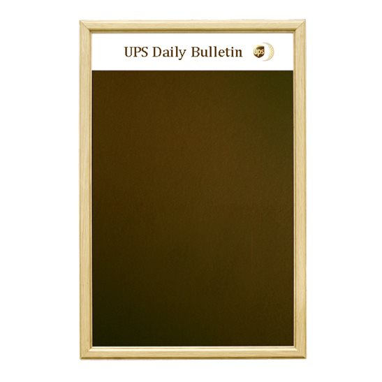 Solid Oak Framed Felt Notice Board with Title Plate | Personalised ...