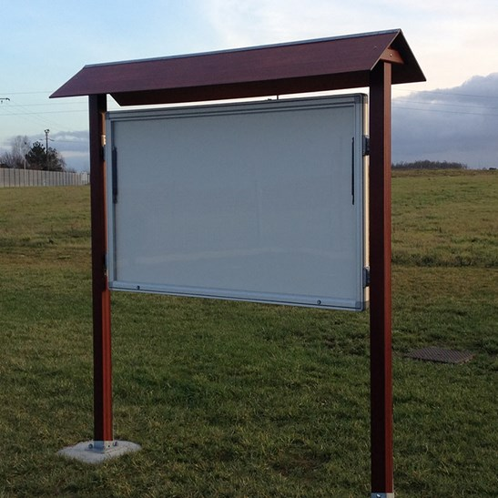 Trail External Notice Board With Wooden Canopy Notice