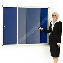Metropolitan Acrylic Sliding Door Notice Board