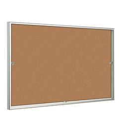 Allure Sliding Door Cork Notice Board