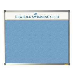 Slimline Sundeala Notice Board with Title Plate