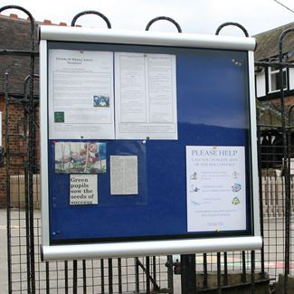 Apollo Rail Mounted External Notice Board