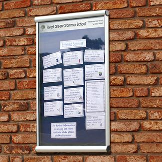 Apollo Wall Mounted External Notice Board with Title Plate