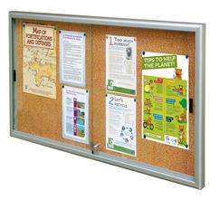 Classic Sliding Door Cork Notice Board