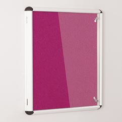 Colourway Lockable Loop Nylon Notice Board