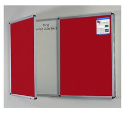 Deluxe Confidential 2 in 1 Lockable Notice Board