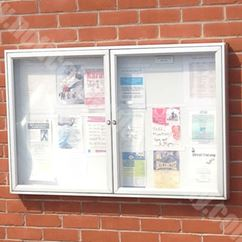 Dual Door 1000 Wall Mounted External Notice Board