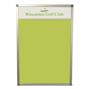 Slimline Lucia Notice Board with Title Plate
