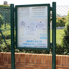 Poster Case 2000 Post Mounted External Notice Board