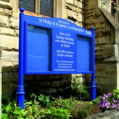 Prestige Post Mounted External Notice Board