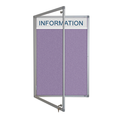 Sundeala Lockable Notice Board with Title Plate