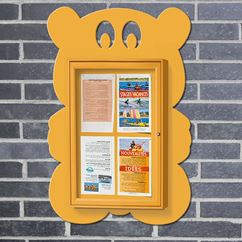 Teddy External Novelty Shaped Notice Board