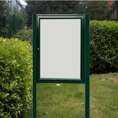 Tradition 30 Post Mounted External Notice Board - Painted Frame