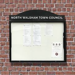 Classic 58 Wall Mounted External Notice Board with Header