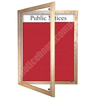 Wooden Framed Lockable Cara Board with Title Plate