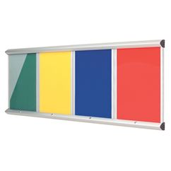 Colourway Multibank Lockable Notice Board