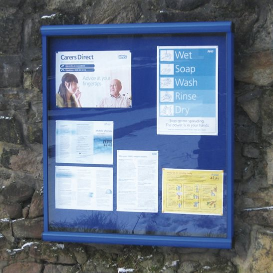 Apollo Wall Mounted Notice Board - Painted