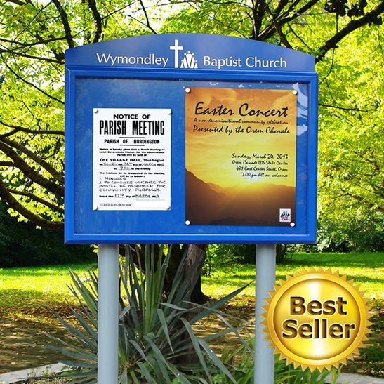Breeze Post Mounted External Notice Board