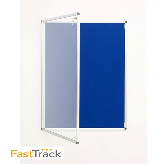 Fast Track Felt Lockable Notice Board