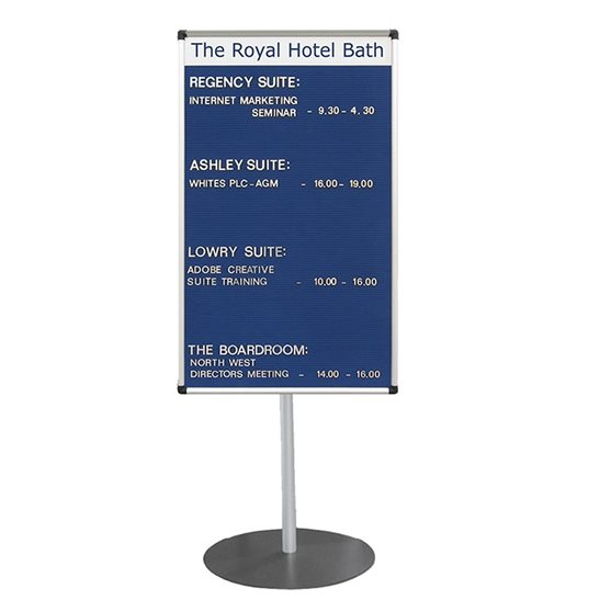Foyer Grooved Felt Board with Title Plate | Stand Mounted
