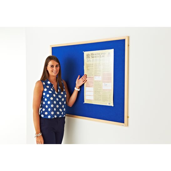 Fast Track Eco Wood Blue Felt Notice Board