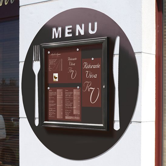 Plate Shaped Menu Notice Board