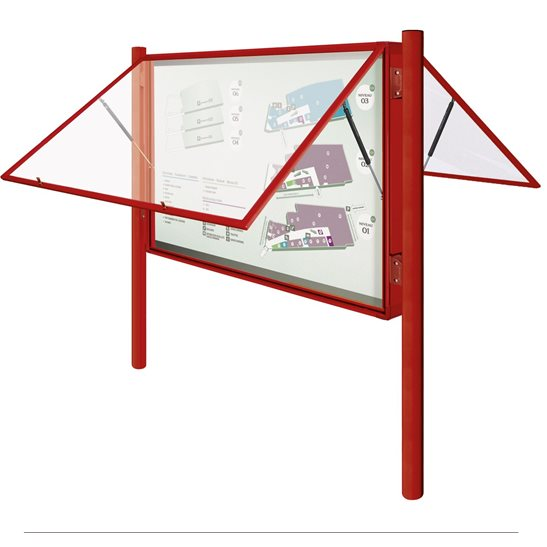 Poster Case 2000 Double Sided External Notice Board - Painted Frame