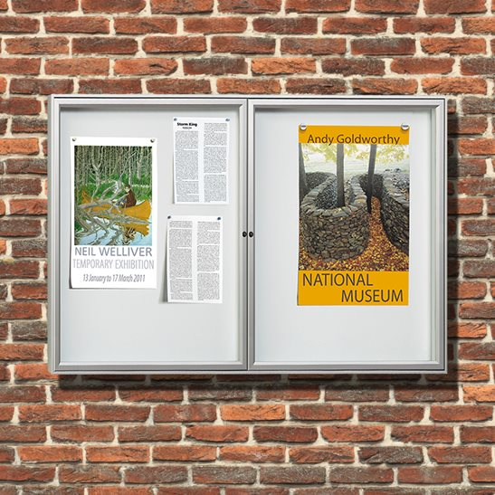 Tradition 30 Dual Door Wall Mounted External Notice Board