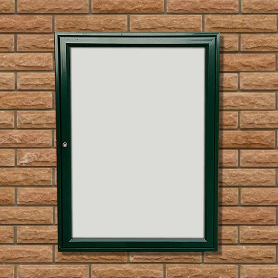 Tradition 30 External Notice Board - Green Frame - Holds 9 x A4