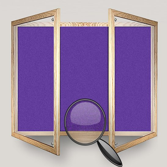 Wooden Framed Lockable Felt Notice Board