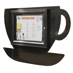 Coffee Cup Shaped External Notice Board