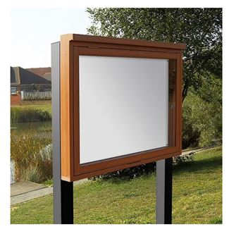 Envy Outdoor Recycled Lockable Notice Board - Post Mounted