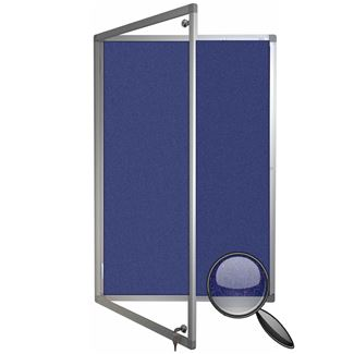 Polycolour Lockable Notice Board