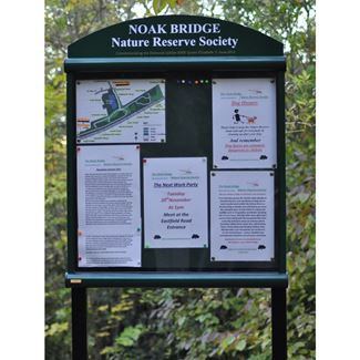 Apollo Post Mounted External Notice Board with Header Panel