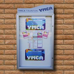 Classic 58 Wall Mounted External Notice Boards with Header