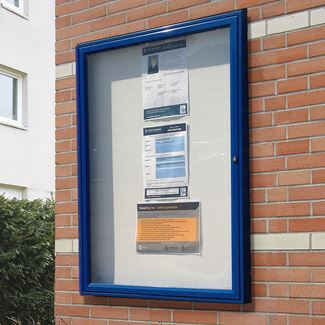 Classic 58 Wall Mounted External Notice Board - Painted Frame