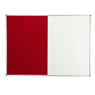 Combination Felt/Magnetic Dry Wipe Notice Board