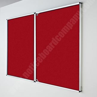 Deluxe Lockable Felt Notice Board