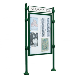 Urban Post Mounted Double Sided Poster Case with Header