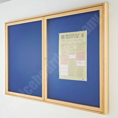 Hardwood Framed Felt Lockable Showcase