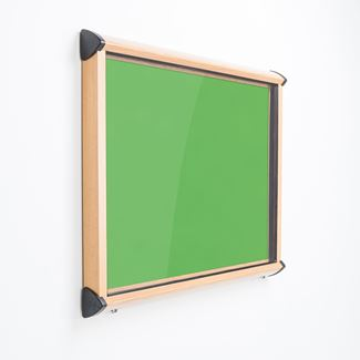 Colourway External Lockable Pin Board - Wood Effect Frame