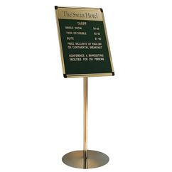 Foyer Grooved Felt Board with Title Plate - Stand Mounted