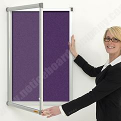 Metropolitan Lockable Felt Notice Board