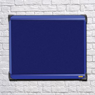 Metropolitan Wall Mounted Blue Frame External Notice Board