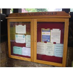Oak Wall Mounted External Lockable Notice Board