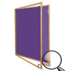 Hardwood Framed Lockable Felt Notice Board