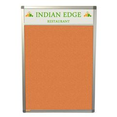 Slimline Felt Notice Board with Title Plate